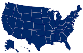 Map of the US
