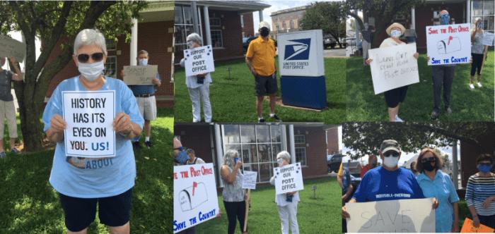 Daviess County Democrats rally to support U.S. Postal Service